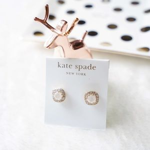 Kate Spade Pave Stone Studs Earrings